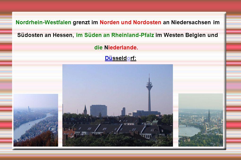 Nordrhein-Westfalen grenzt im Norden und Nordosten an Niedersachsen im