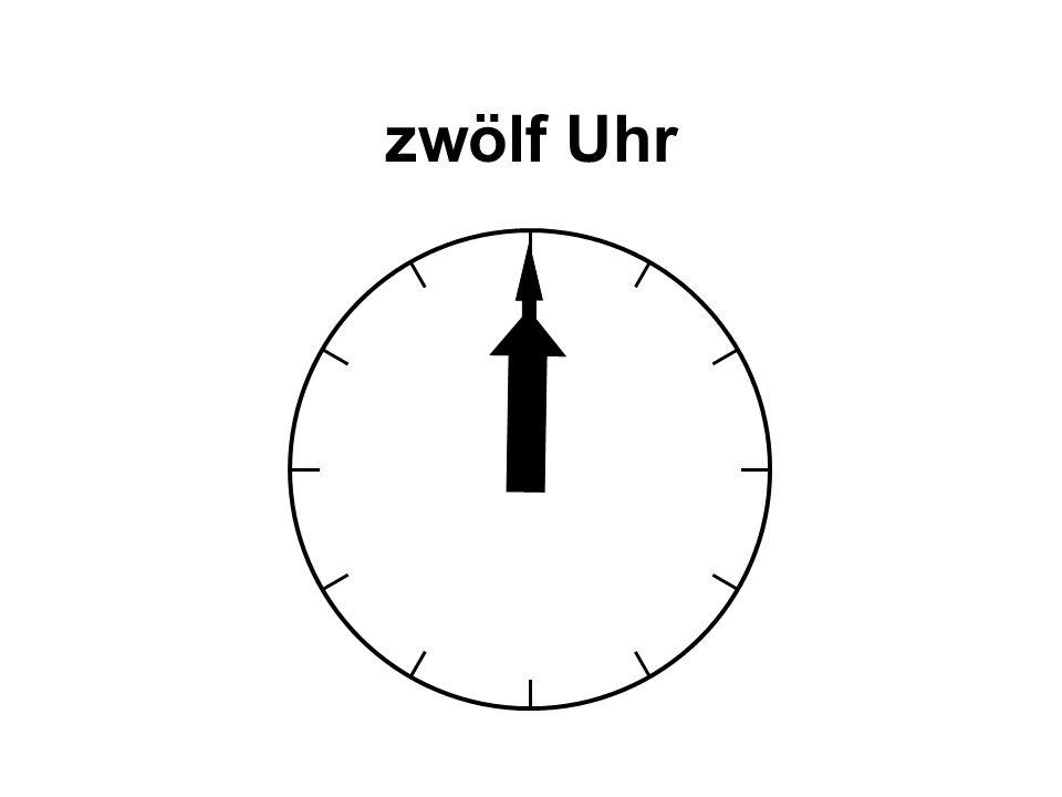 zwölf Uhr
