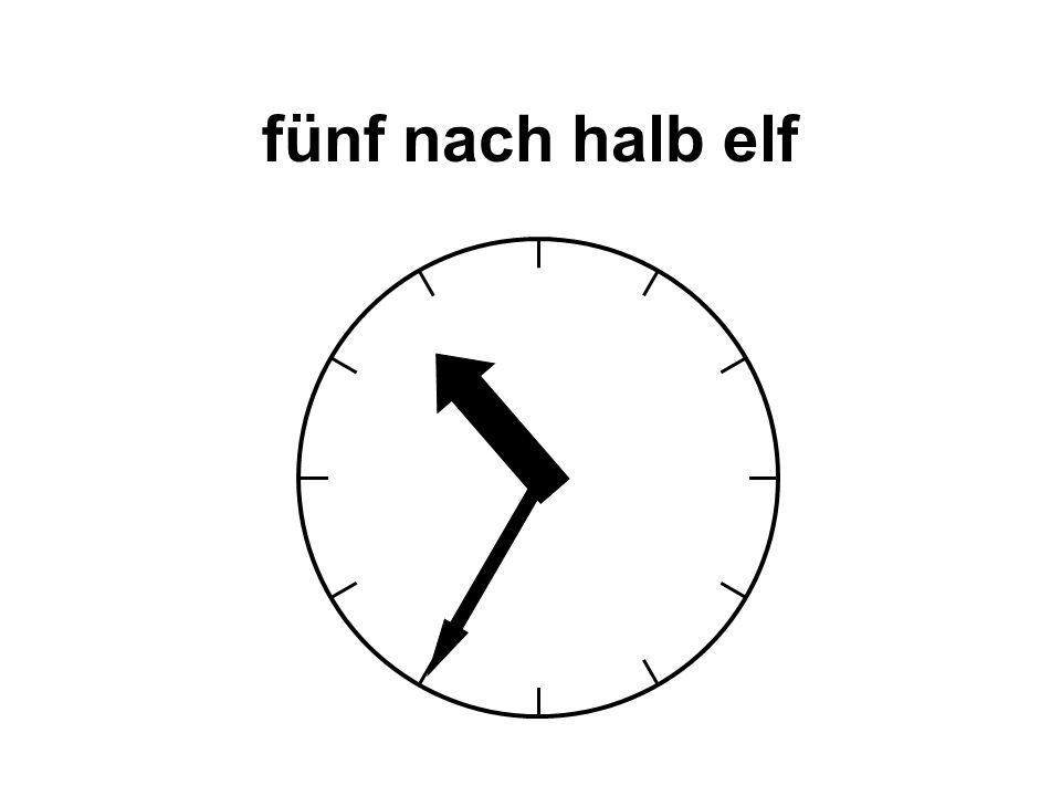 fünf nach halb elf