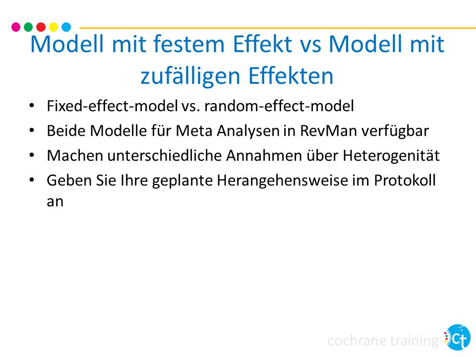 Modell mit festem Effekt vs Modell mit zufälligen Effekten