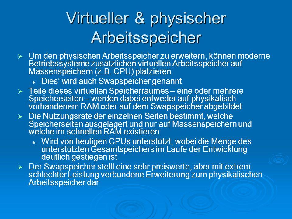 Virtueller & physischer Arbeitsspeicher