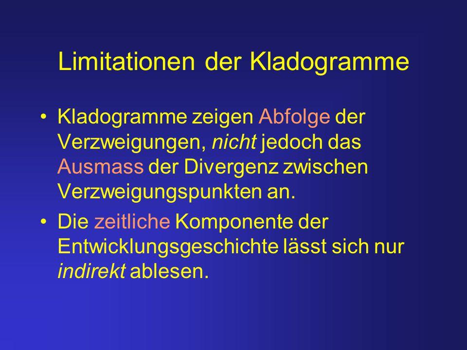 Limitationen der Kladogramme