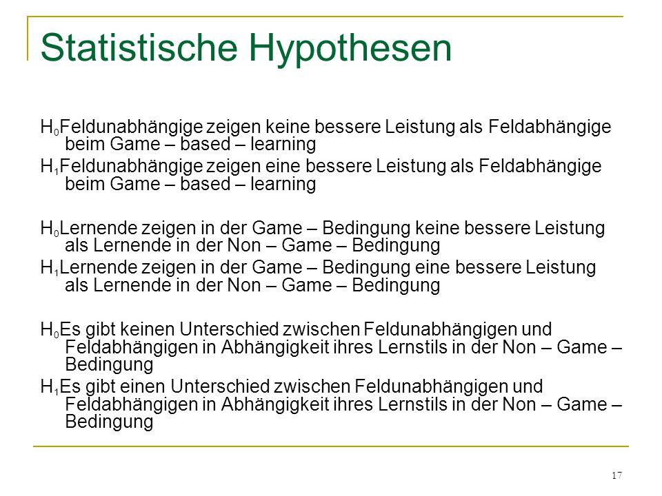 Statistische Hypothesen
