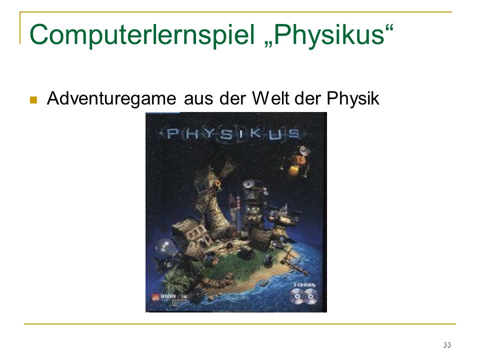 """Computerlernspiel """"Physikus"""