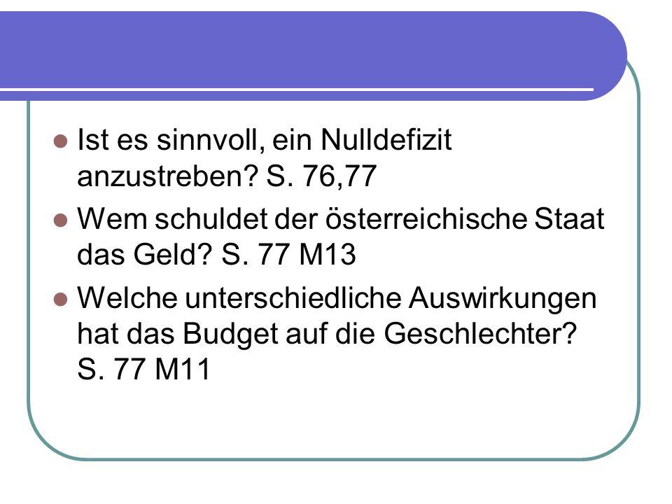 Ist es sinnvoll, ein Nulldefizit anzustreben S. 76,77