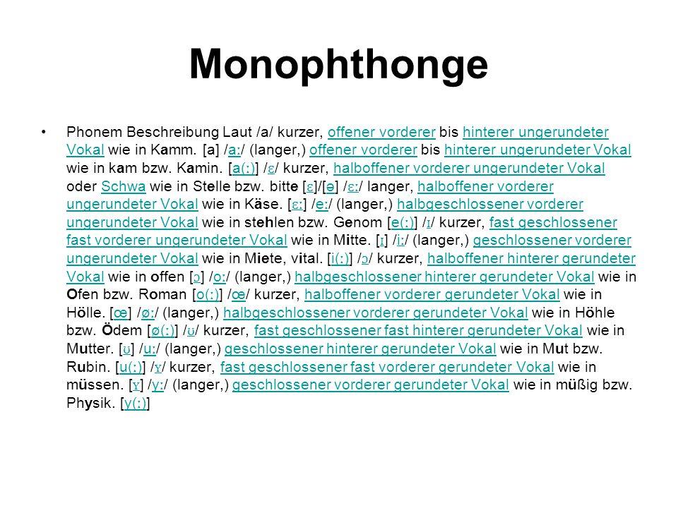 Monophthonge