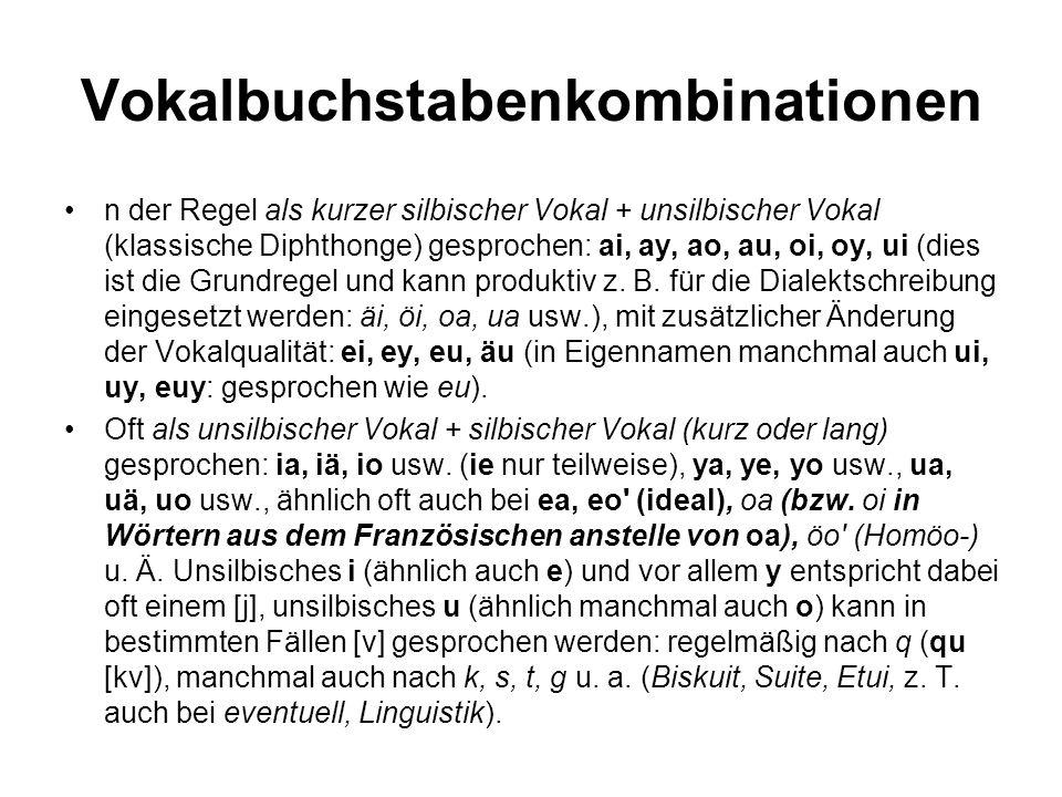 Vokalbuchstabenkombinationen