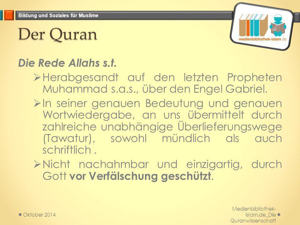 Der Quran Die Rede Allahs s.t.