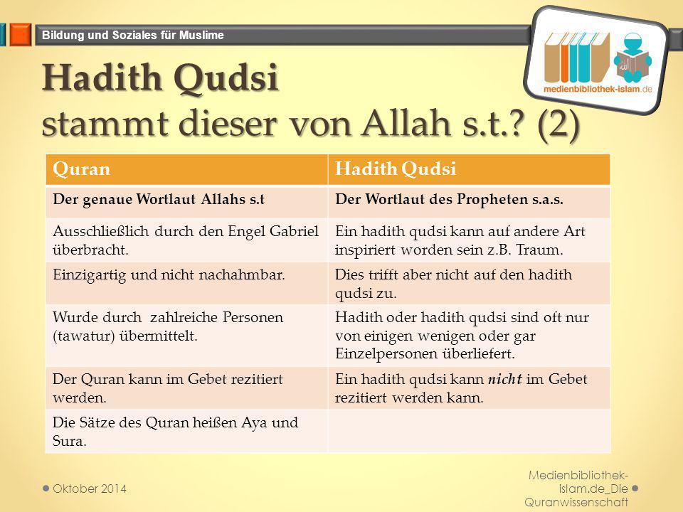 Hadith Qudsi stammt dieser von Allah s.t. (2)