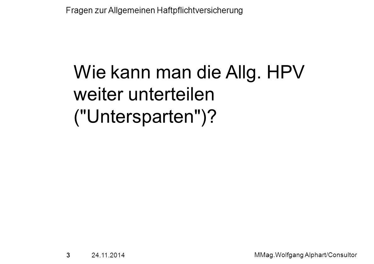 Wie kann man die Allg. HPV