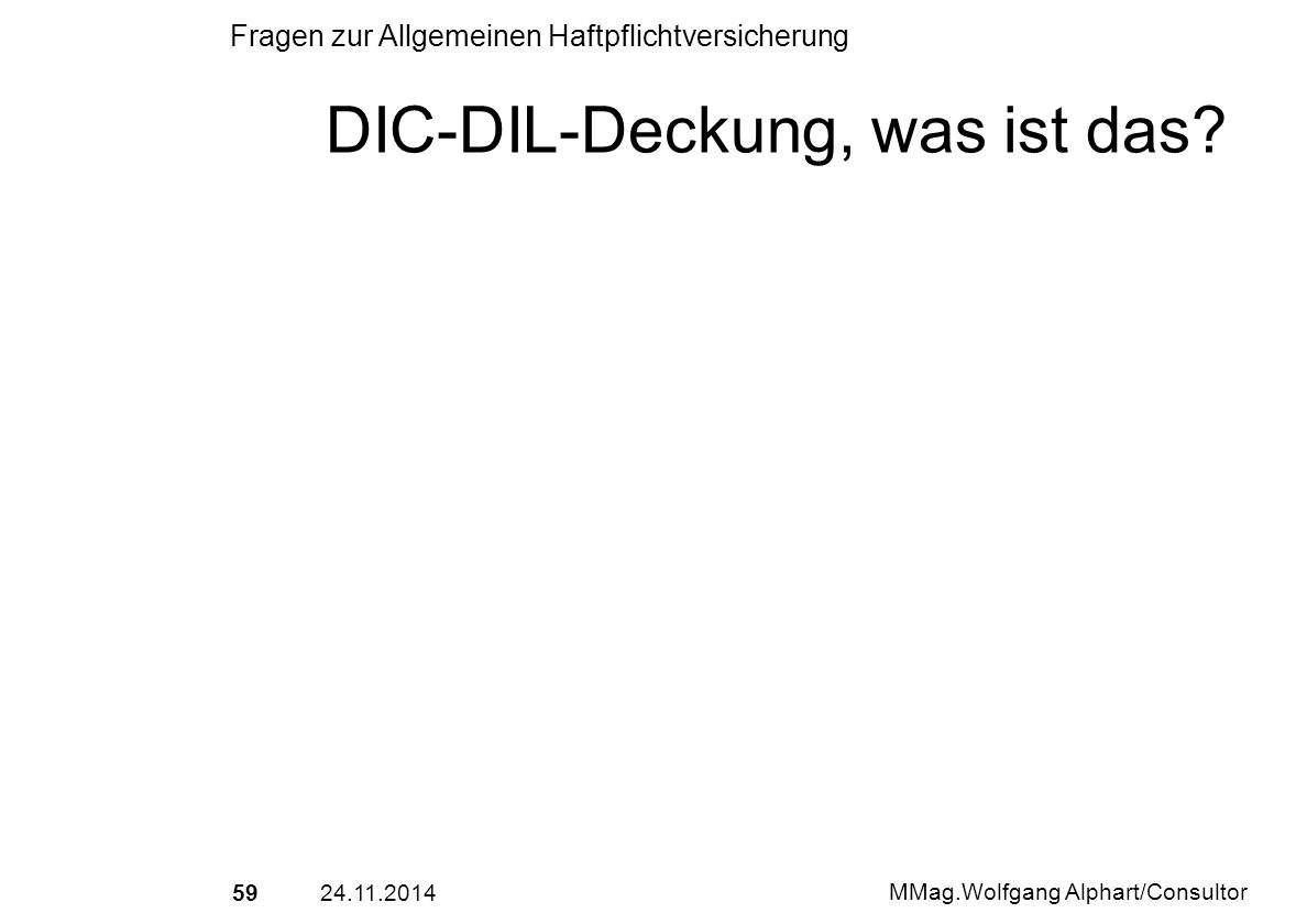 DIC-DIL-Deckung, was ist das
