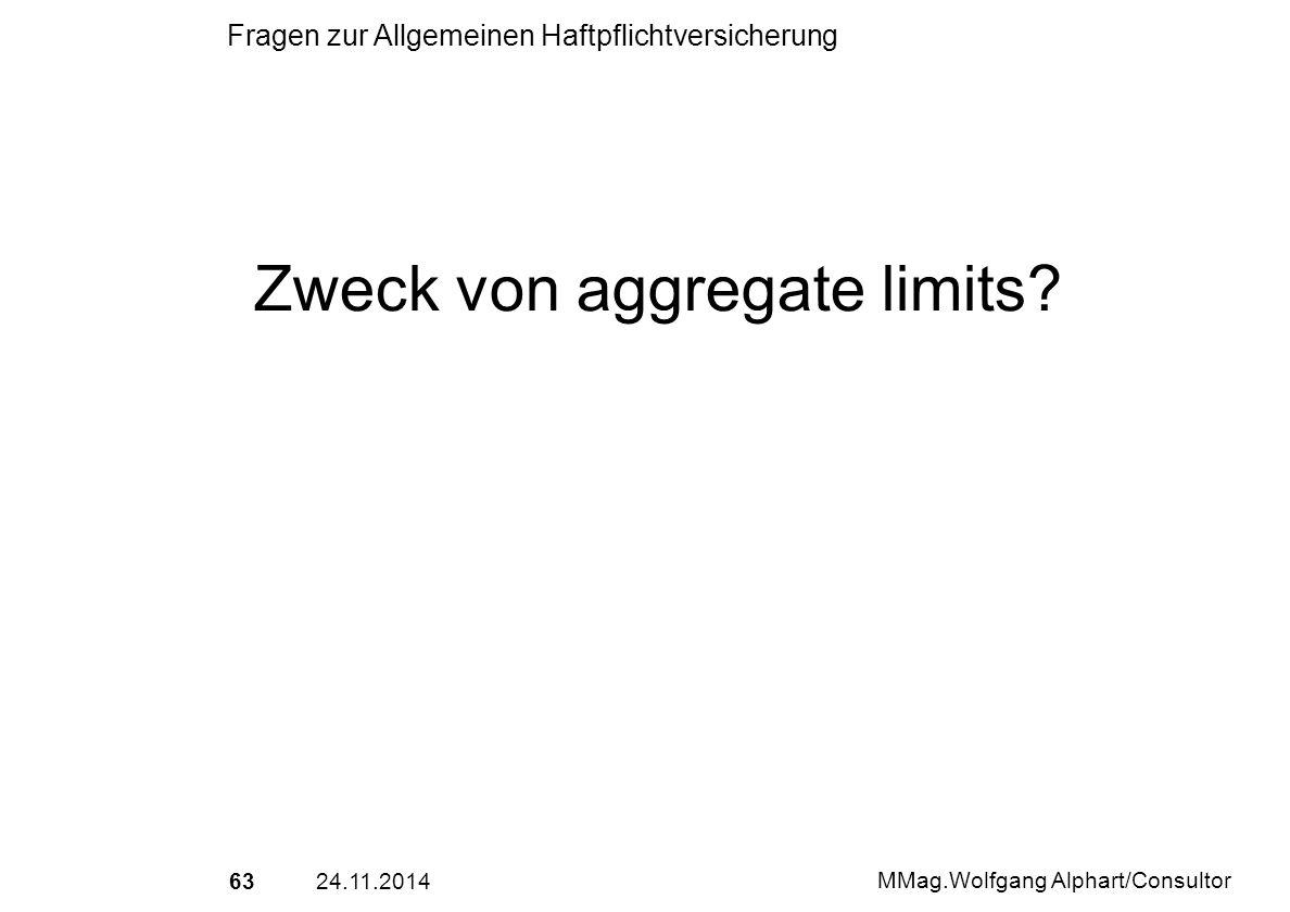 Zweck von aggregate limits