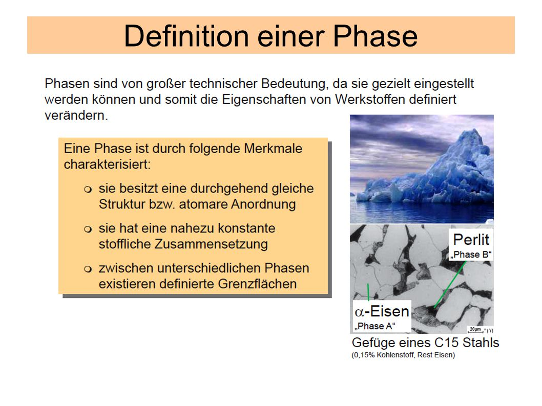 Definition einer Phase
