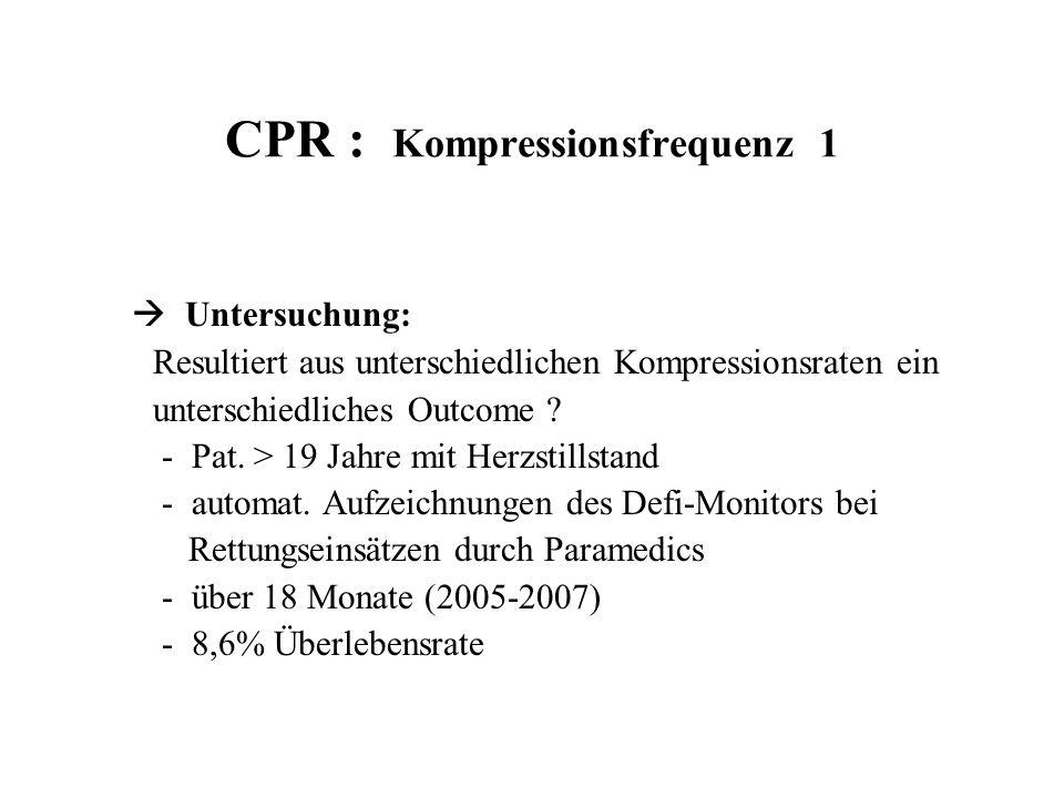 CPR : Kompressionsfrequenz 1