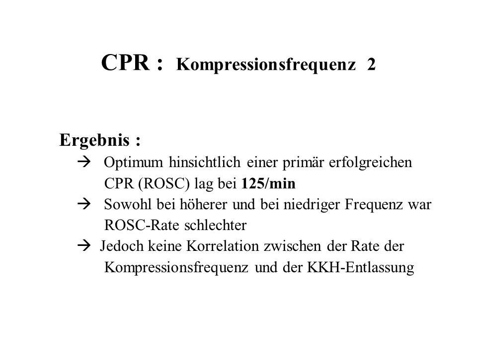 CPR : Kompressionsfrequenz 2