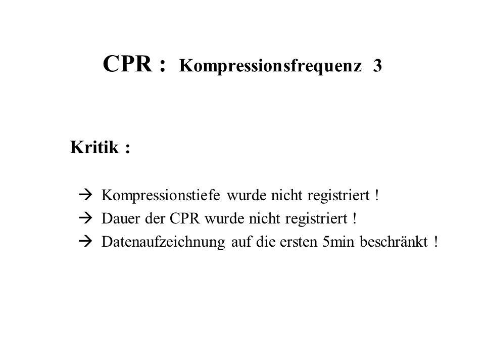 CPR : Kompressionsfrequenz 3