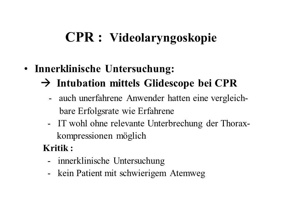 CPR : Videolaryngoskopie