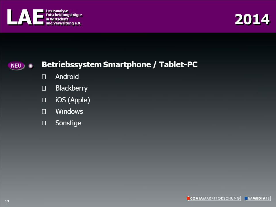 Betriebssystem Smartphone / Tablet-PC