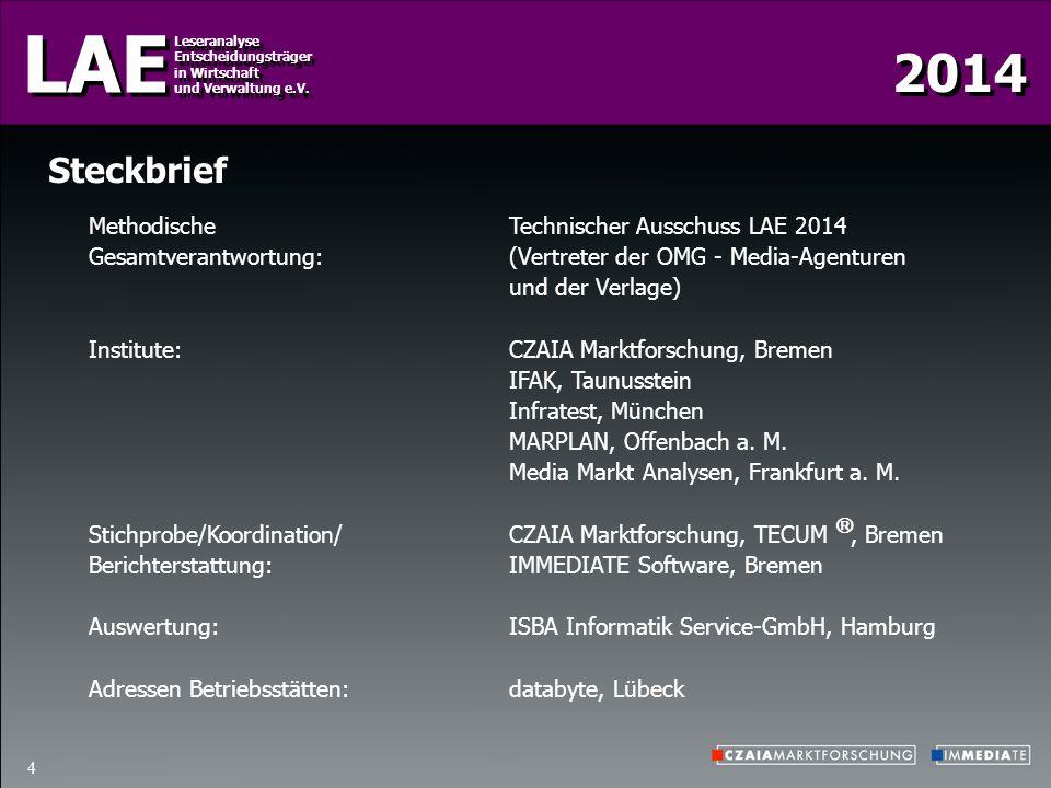 Steckbrief Methodische Technischer Ausschuss LAE 2014