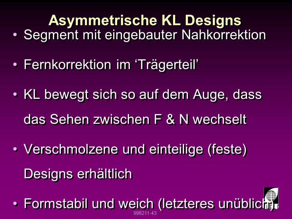 Asymmetrische KL Designs