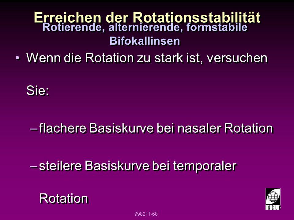 Erreichen der Rotationsstabilität
