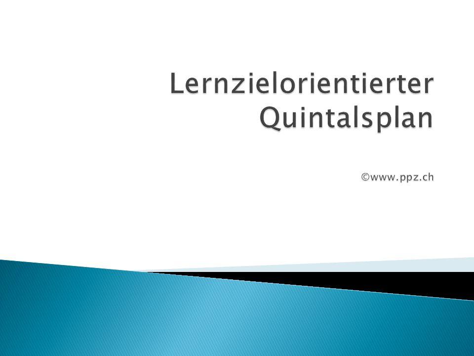 Lernzielorientierter Quintalsplan ©www.ppz.ch