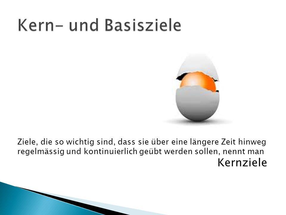 Kern- und Basisziele Ziele, die so wichtig sind, dass sie über eine längere Zeit hinweg.