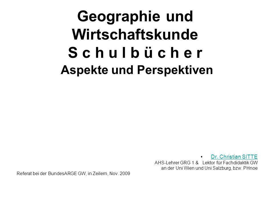Geographie und Wirtschaftskunde S c h u l b ü c h e r