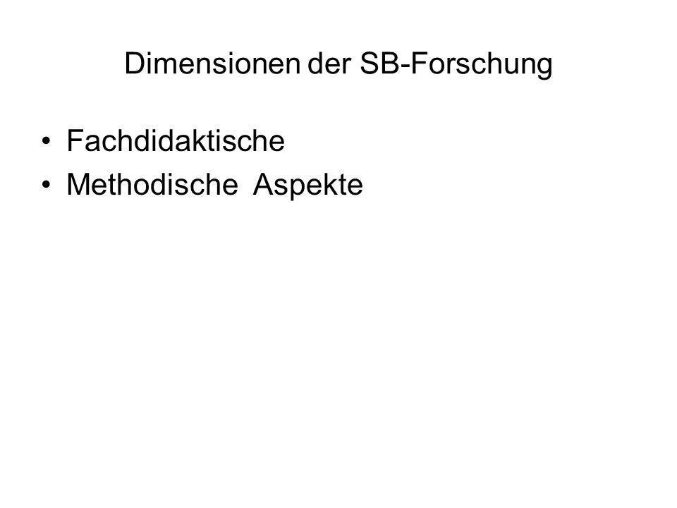 Dimensionen der SB-Forschung