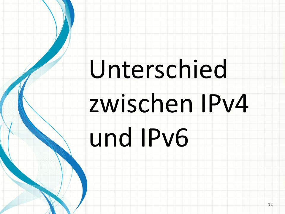Unterschied zwischen IPv4 und IPv6