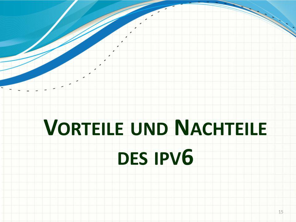 Vorteile und Nachteile des ipv6