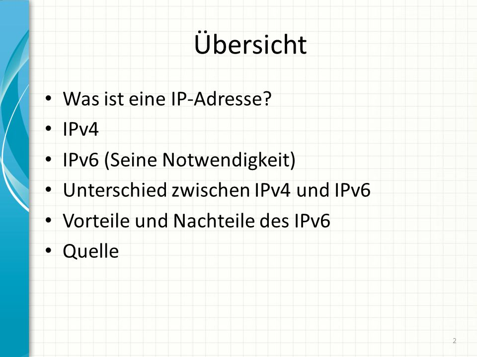Übersicht Was ist eine IP-Adresse IPv4 IPv6 (Seine Notwendigkeit)