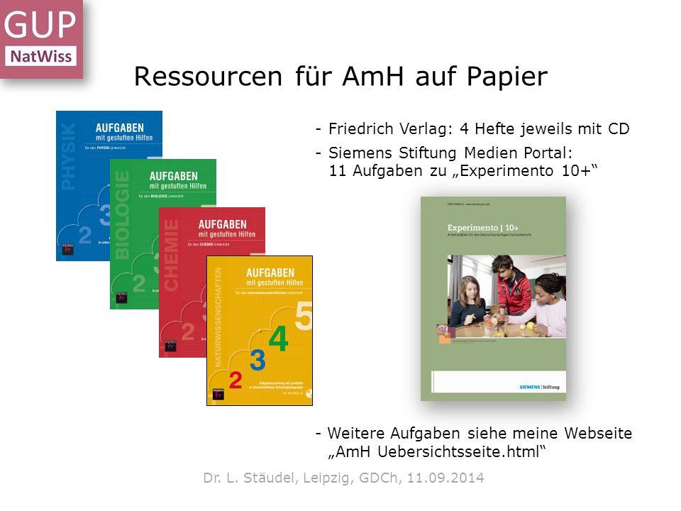 Ressourcen für AmH auf Papier