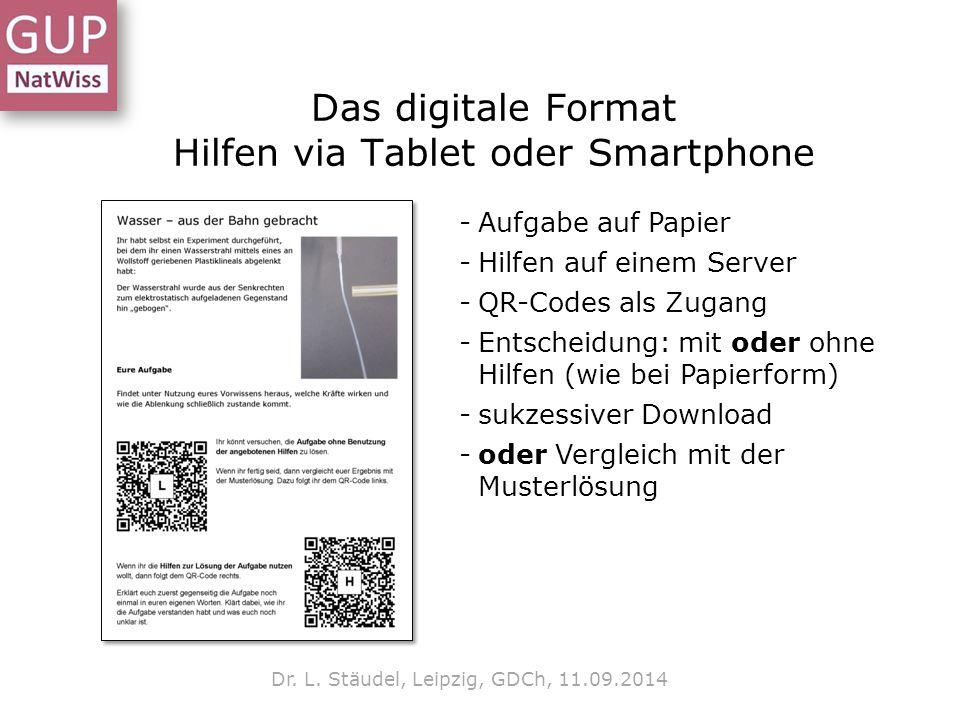 Das digitale Format Hilfen via Tablet oder Smartphone