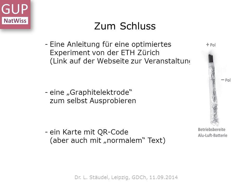 Dr. L. Stäudel, Leipzig, GDCh, 11.09.2014
