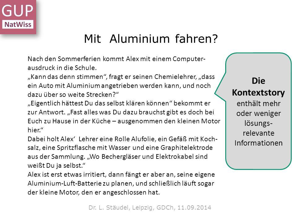 Mit Aluminium fahren Die Kontextstory