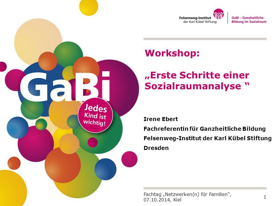 """Workshop: """"Erste Schritte einer Sozialraumanalyse"""