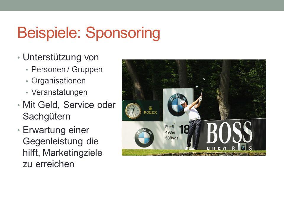 Beispiele: Sponsoring