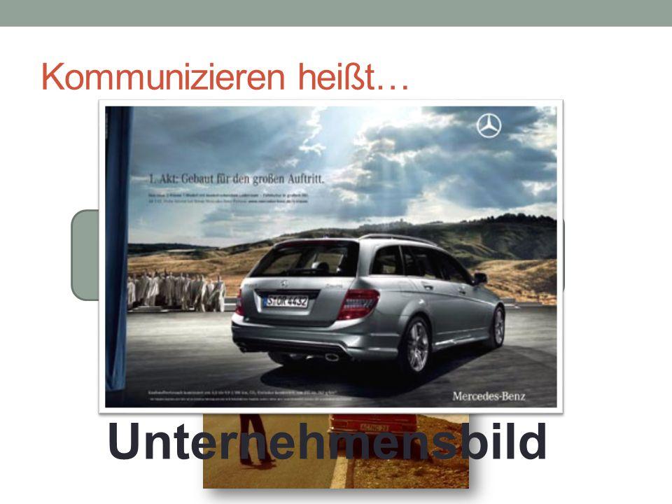 Unternehmensbild Kommunizieren heißt… Zusatzinfos Image und Sender
