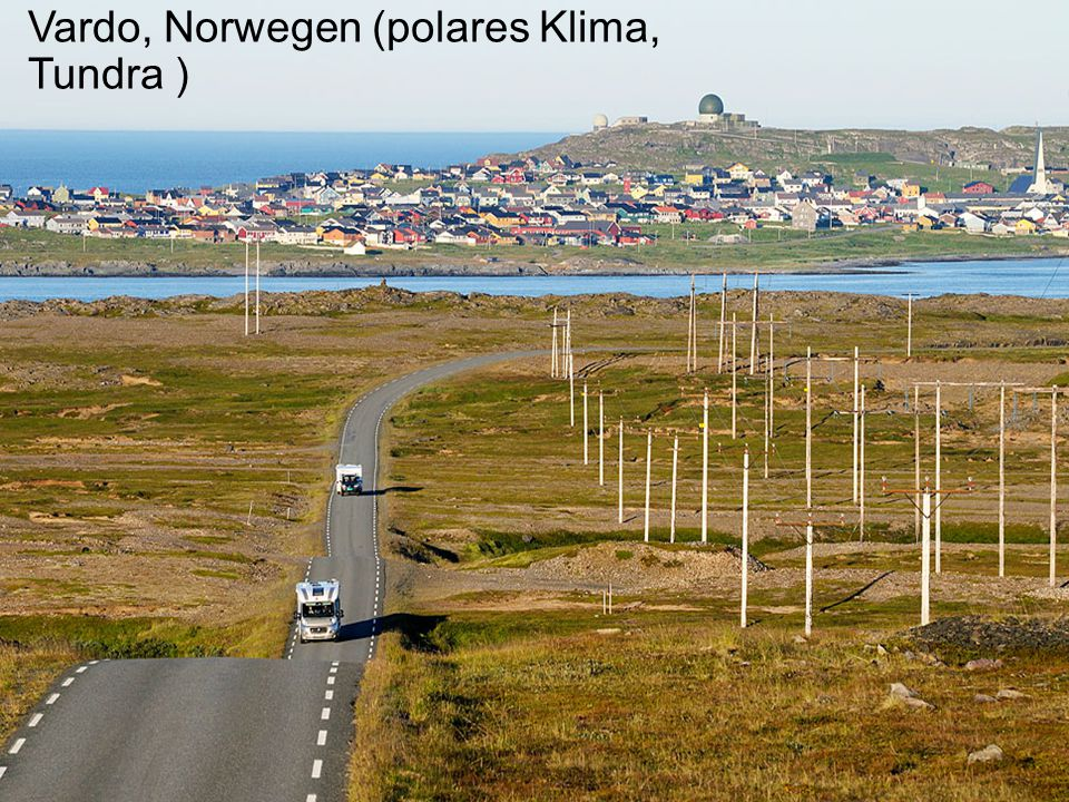 Vardo, Norwegen (polares Klima, Tundra )