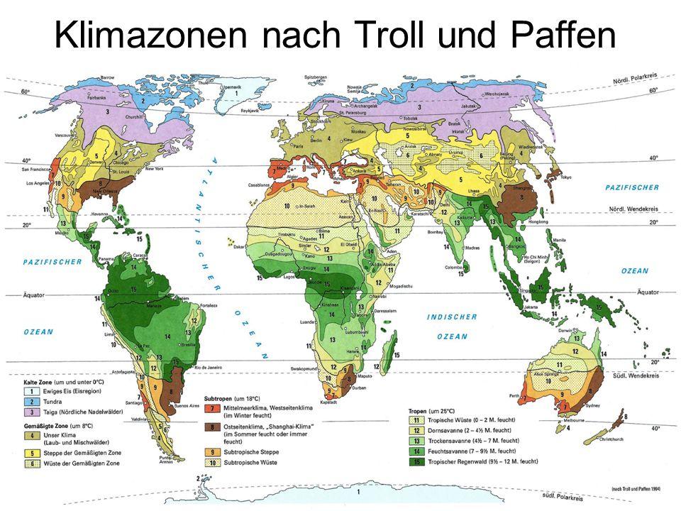 Klimazonen nach Troll und Paffen