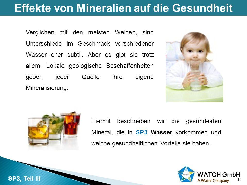 Effekte von Mineralien auf die Gesundheit