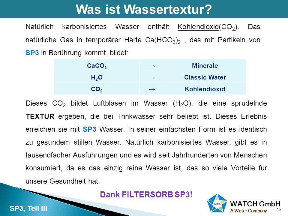 Was ist Wassertextur Dank FILTERSORB SP3!