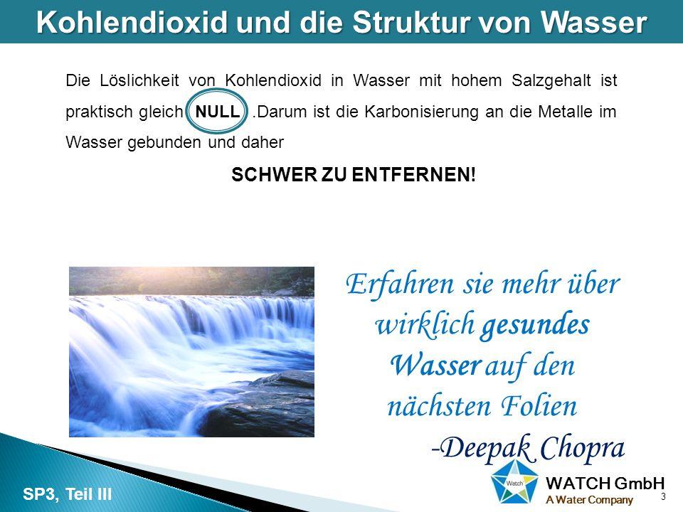 Kohlendioxid und die Struktur von Wasser