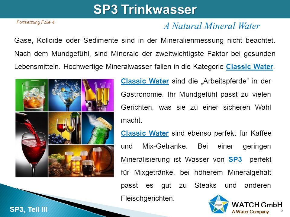 SP3 Trinkwasser A Natural Mineral Water