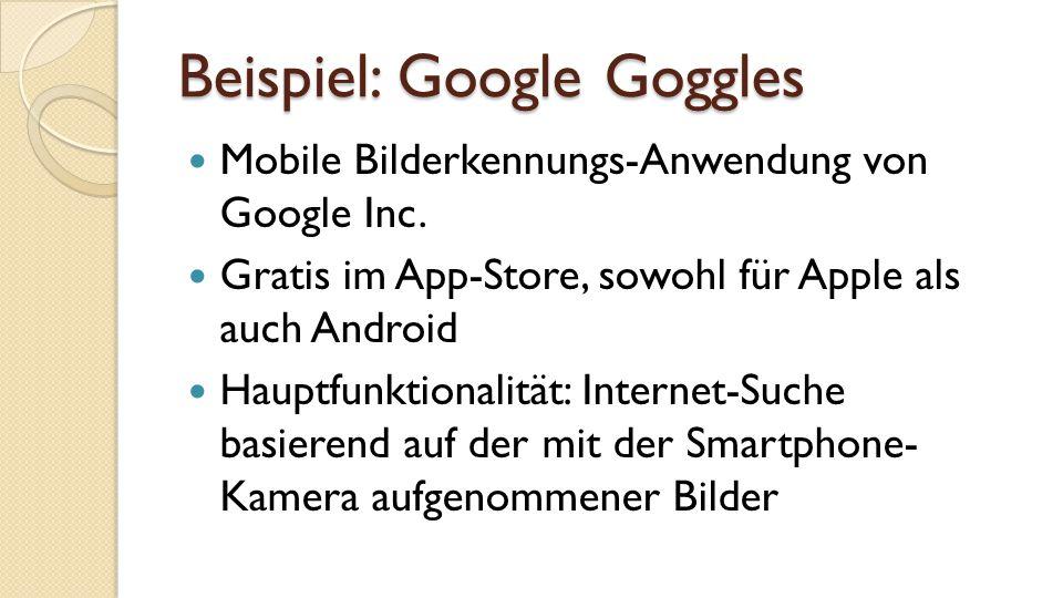 Beispiel: Google Goggles