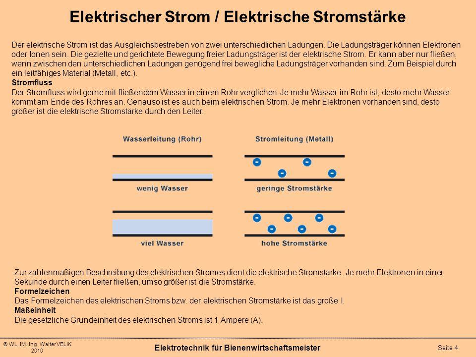 Elektrischer Strom / Elektrische Stromstärke