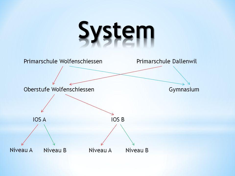 System Primarschule Wolfenschiessen Primarschule Dallenwil