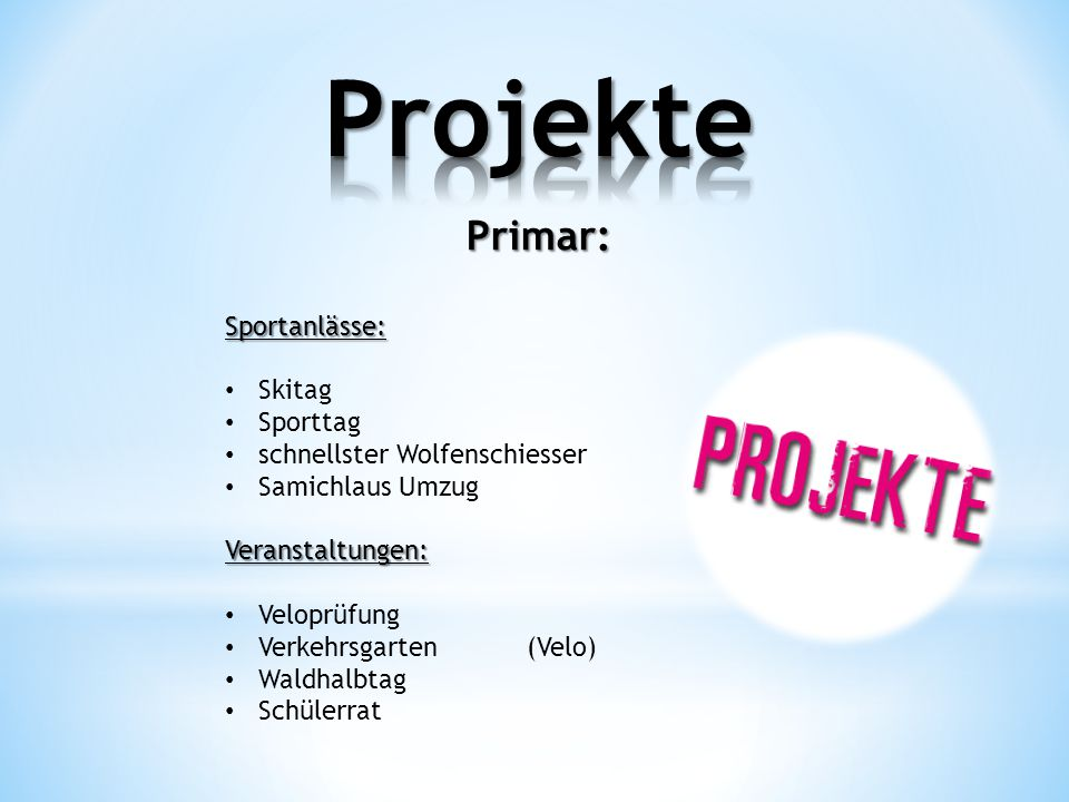 Projekte Primar: Sportanlässe: Skitag Sporttag