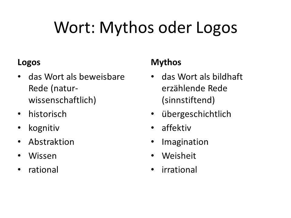 Wort: Mythos oder Logos